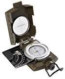 Huntington MG-XL Camo, Portée militaire, Boussole de randonnée / boussole lensatic, à lentille de grossissement, taille XL, professionnellement imbibée d'un ...