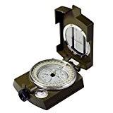 Huntington MG1 Verte, Boussole de randonnée / boussole lensatic, à lentille de grossissement, professionnellement imbibée d'un fluide , boîtier en ...