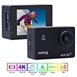 Juning Caméra de Sport et Action Full HD 1080p 16MP 30M Étanche Caméscope d'action 170 degrée Sport voiture caméra DVR ...