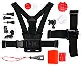 Kit complet d'accessoires pour Nilox F-60 EVO, F-60 MM93, F-60 Reloaded et Topop Caméra Sports embarquée étanche - DURAGADGET