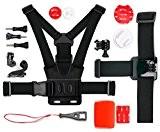 Kit d'accessoires complet pour VicTsing Full HD et VTIN Wi-Fi 1080P caméras de sport - idéal en Ski, Surf, Paddle ...