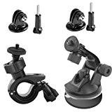 Kit d'accessoires pour CCBetter cs710 Caméra d'action imperméable avec guidon de vélo/ventouse/Adaptateur pour trépied, ventouse Lot de 2 bloc-notes et ...