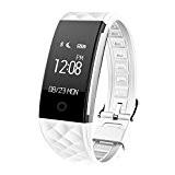 KOBWA Tracker D'activité,Smart Bracelet Connecté Bluetooth 4.0 Sport Fitness Tracker Podomètre Calories Sommeil Moniteur de Fréquence Cardiaque, Appel SMS,Compatible avec ...