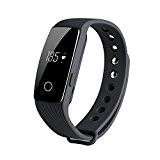 KOBWA Tracker D'activité, Smart Bracelet Connecté Sport Fitness Tracker Podomètre Calories Sommeil Fréquence Cardiaque - Bluetooth V4.0 - Appel SMS ...