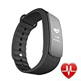 LINTELEK Fitness Tracker d'Activité Cardio Smart Bracelet Connecté Sport Fitness Montre Cardio Montre Connectée Sport Etanche IP67 Bluetooth 4.0, Tracker ...