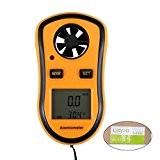 Liqoo® Anémomètre Numérique Portable Thermomètre Portatif Légère Affichage LCD Electronique Jauge de Vitesse de Vent Idéal pour Planche à Voile, ...