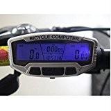 logas imperméable de vélo compteur de vitesse Velometer écran LCD avec rétroéclairage bleu