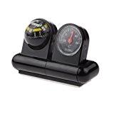MagiDeal 2 En 1 Boussole Voiture Voyage Bateau Cadran Thermomètre en ABS