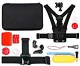Mallette + kit 12 accessoires pour TecTecTec XPRO1, XPRO2 / XPRO 2+, XPRO3, XPRO 4 Caméra de Sport et Action ...
