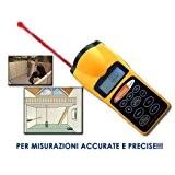 Mesure de Télémètre, mètres/pieds, ultrasons, espace, pointeur laser