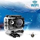 Mini Caméra d'action, Uvistar ELE Caméra de sport cinématographique DV Portable WiFi 16MP 4K 1080P 170 Degrés Grand Angle HD ...