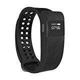 morefit H5Tracker de fitness avec moniteur de fréquence cardiaque, écran tactile sans fil Bluetooth Smart Watch Bracelet en bonne santé, ...