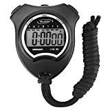 Mudder Sport Montre Numérique Minuterie Sportline Chronomètre Sport Digital Chronomètre Minuteur avec Écran LCD, Noir