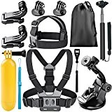 Neewer® 8-en-1 Kit d'accessoires pour Sports en Plein Air pour Gopro Hero 4 Black Silver Hero HD 4 3+ 3 ...