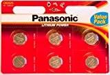 Panasonic Lot de 6 piles bouton au Lithium 3 V CR2025 Pile