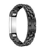 Pour Fitbit Alta Tracker Bracelet ,Clode® Luxe Véritable acier inoxydable Montre bracelet bande pour Fitbit Alta Tracker
