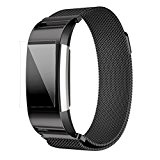 Pour Fitbit Charge 2 Bandes Clode® milanese Montre acier inoxydable bracelet en bande bracelet + film HD pour Fitbit Charge ...