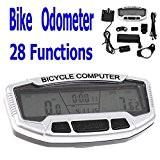 preadvisor (TM) 28Fonctions imperméable vélo numérique LCD ordinateur odomètre indicateur de vitesse velometer rétroéclairage