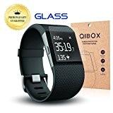 QIBOX Premium HD clair trempé verre protecteur d'écran pour Fitbit Surge Fitness Superwatch - 9H dureté écran Multi-layerExplosion à l'épreuve ...