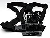 QUMOX Harnais sangle pectoral élastique ajustable de monture pour caméra sport SJ4000 SJ5000