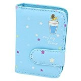 sac de carte fentes de carte de crédit porte-monnaie support 20 de cartes, Bleu