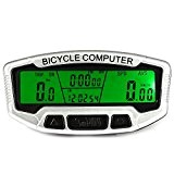 Sans fil Ordinateur de vélo vélo de vitesse Odomètre Speedo extérieur multifonction résistant à l'eau écran LCD rétroéclairé