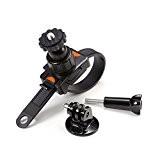 Shoot® Zip Support avec trépied Adaptateur flexible ruban & Vis à tête rotative à 360° pour GoPro Hero 4/3+/3/2/1-Noir