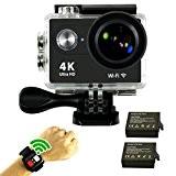 SmilyDirect® Caméra de Sport et Action Haute Définition Full HD 1080p 12MP 30M Étanche Caméscope d'action 170 degrée télécommande Multifonction ...