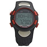 SODIAL(R) cardiofrequencemetre sportif Pulse exercice podometre calories Chronometre Cyclisme Rouge