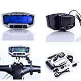 SODIAL(R) LCD Bicyclette Cyclisme Velo ordinateur kilometrique Compteur de vitesse Velometre avec retro-eclairage