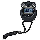 Sport Digital Chronomètre Minuteur Athlétique Chronographe Avec Alarme Horloge, Calendrier et Grand écran LCD, en matériau résistant à l'eau