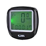 Sunding Ordinateur de vélo imperméable Vélo VTT Odomètre Compteur de Vitesse Noctilucous Affichage LCD de la Température CS415