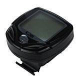 Sunding SD-546C Sans fil Velo Bicyclette Ordinateur Indicateur LCD Retro-eclairage Compteur kilometrique Auto reveil