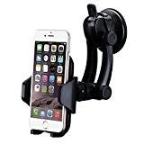 Support Voiture, VTIN Support Voiture Auto Universel Ventouse sur Pare-brise/ Tableau de Bord avec Rotation à 360 pour iPhone 7 ...