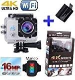 Theoutlettablet® sport caméra action HD 4K Ultra HD 16Mpx comme SJCAM SJ4000 1080p Caméscope HD Wifi 170e submersible cam sport ...