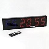 TIMER LED à 6 chiffres - Affichage sportif / Heure - Chronomètre - Minuteur d'intervalles / 65 x 16 x ...