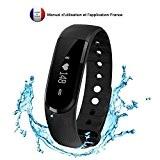 Tracker d'activité,Amytech IP67 D101 Imperméable Bracelet Connecté Sport Fitness Tracker Podomètre Calories Sommeil Fréquence Cardiaque Bracelet de Fitness