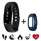 Tracker d'activité,CAMTOA Bracelet d'activité Avec Écran Tactile,Smart Bracelet,Bracelet Tactile,Fitness Tracker podomètre,calories,Moniteur de Sommeil,fréquence cardiaque, étanche IP67,Bluetooth V4.0
