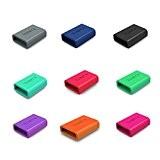 TUSITA® 9-PACK Anneau de fixation en silicone pour Fitbit Alta, Fitbit Flex, Garmin Vivosmart, Garmin Vivofit 3, Misfit, Amiigo, Striiv, ...