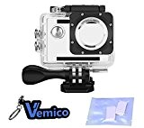 Vemico Boîtier étanche boîtier pour caméra d'action AKASO EK5000 EK7000 / DBPOWER X1 / Lightdow LD4000 / Campark 4K / ...