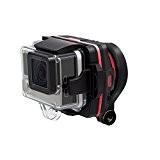 Wenpod X1 Stabilisateur d'Image pour GoPro/Smartphone Noir