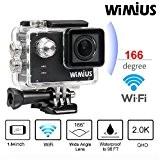 WiMiUS A1 Caméra Sport WiFi Ambarella A7LS Sport Camera 2K Full hd Action Camera Etanche 60m Caméra Embarquée Dashcam Mini ...