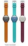 Withings Pack de 3 accessoires de bracelet d'activité Orange/Grenat/Turquoise