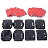 XCSOURCE® Kit accessoires pour Casque 4x fixation sur surface plate 4x fixation sur surface incurvée + adhésif 3M Pour Gopro ...