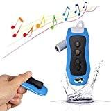Y & M (TM) 8Go Lecteur MP3étanche, 100% IPX8lecteur mp3étanche avec radio FM pour Natation plongée Sport Bleu